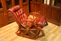 Rocking chair leather Stock Images