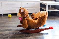 Rocking chair for children Royalty Free Stock Photography