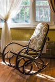 The rocking chair in the living room stock photos
