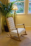 Rocking Chair Nexxt to Window Stock Photo