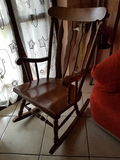 Rocking chair. Old rocking chair Stock Photography