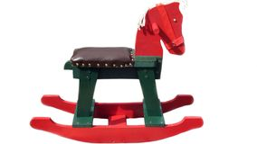 Rocking chair. rocking horse. gift for a child. toy Stock Photography