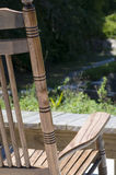Rocking Chair with Scenic View Stock Photography