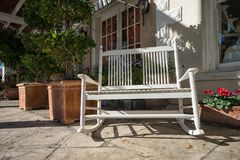 Rocking chair in the shade Stock Photography