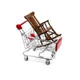 Rocking chair in a shopping cart Stock Photos
