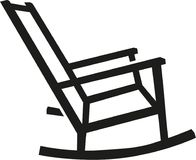 Rocking chair silhouette. Furniture vector vector illustration