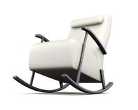 Rocking chair  on white background. 3d rendering Stock Photo