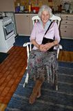 Rocking chair woman Royalty Free Stock Photo