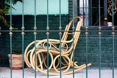 The rocking chair royalty free stock photos
