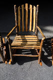 Rocking chair in Yellowstone Stock Image
