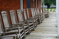 Rocking chairs Royalty Free Stock Images