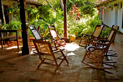 Rocking chairs, Mompos, Colombia Royalty Free Stock Photography
