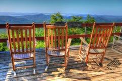 Rocking Chairs Of Pisgah Inn II Stock Images