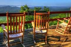 Rocking Chairs Of Pisgah Inn Royalty Free Stock Photos