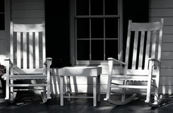Rocking Chairs on Porch Stock Photos