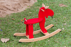 Rocking deer chair for kids ride playing Stock Photo