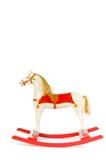 Rocking horse. Old antique rocking horse made of wood Royalty Free Stock Photo