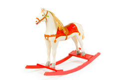 Rocking horse. Old antique rocking horse made of wood Royalty Free Stock Photography