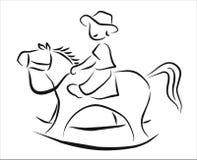 Rocking horse Royalty Free Stock Photography