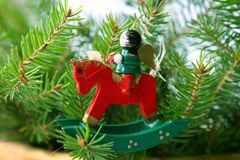 Rocking horse. Christmas rocking horse Royalty Free Stock Image