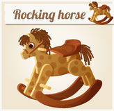 Rocking horse. Cartoon vector illustration Royalty Free Stock Photography