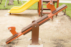 Rocking Horse. In the children playground Royalty Free Stock Photography