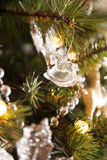 Rocking horse crystal christmas decoration Stock Images
