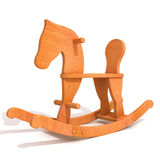 Rocking horse 3d illustration Stock Photos