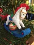 Rocking horse decoration Stock Images