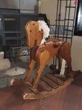Rocking horse decoration royalty free stock photos