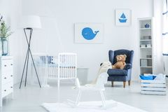 Free Rocking Horse In Baby Room Royalty Free Stock Images - 104769699