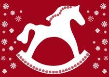 Rocking Horse. New Year illustration Royalty Free Stock Image