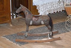 Rocking horse - old toy for children Stock Photo