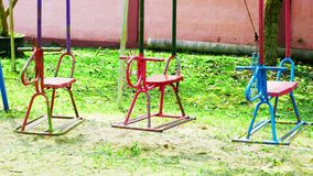 Rocking horse on the playground royalty free stock images