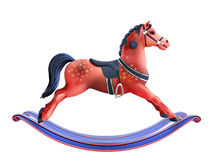 Rocking horse realistic royalty free illustration