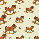 Rocking horse seamless pattern Royalty Free Stock Image