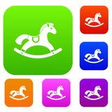 Rocking horse set collection Stock Photography
