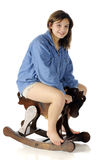 Rocking Horse Teen Royalty Free Stock Images