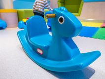 Rocking Horse Toys, Made of Plastic, indoor with children. stock photo