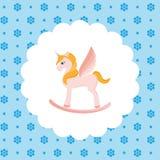 Rocking Horse Unicorn Royalty Free Stock Photography