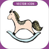 Rocking horse vector illustration Royalty Free Stock Photo