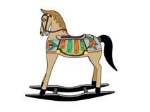 Rocking horse. Vector illustration of a toy, EPS 18 file Royalty Free Stock Photography