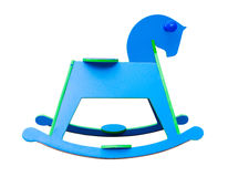 Rocking Horse on white background Stock Photos