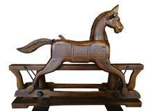 Rocking Horse Wooden Antique Royalty Free Stock Image