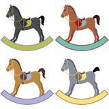 Rocking horses Stock Images