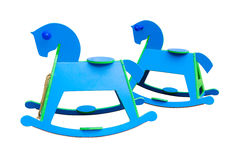 Rocking Horses on white background Stock Photo