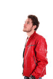Rocking man in leather jacket Stock Photo