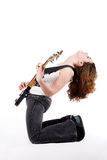 Rocking on profile Royalty Free Stock Image