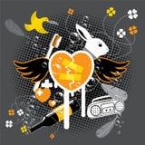 Rocking Rabbit Poster Royalty Free Stock Image