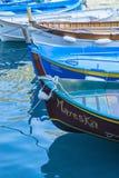 Boats. Rocking at the shore at Vernazza Stock Image